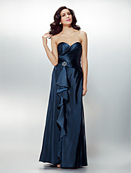 Formal Evening Dress - Dark Navy Plus Sizes / Petite Sheath/Column Sweetheart Floor-length Charmeuse