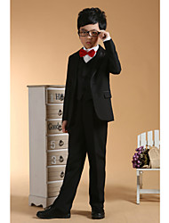 First Communion Ring Bearer Suit Black Polester/Cotton Blend 3 Suit Bearer Dressy Suits