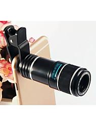 universelle téléobjectif 12x HD film vert verre optique lentille détachable pour iphone htc samsung sony (couleurs assorties)