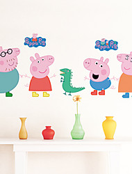 pegatinas de pared de estilo calcomanías de pared pegatinas de pared de pvc cerdo Peppa