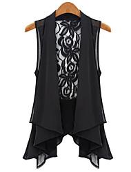 Kaman Women's Casual/Work Sleeveless Tops & Blouses (Chiffon/Lace)
