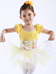Danse classique Robes et Jupes Tutus & Jupes Robes Enfant Spectacle Entraînement Coton Tulle 1 Pièce Manche courte Princesse Robe