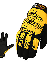 CoolChange Cycling Anti-Skid Yellow Full Finger Gloves