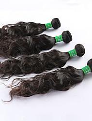 "4 Pcs/Lot 8""-26"" Indian Virgin Hair Natural Black Natural Curve hair Weft Direct Manufacturer"