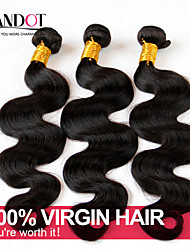 "4 Pcs Lot 8-28"" Mongolian Body Wave Virgin Hair Weave Bundles Natural Black Tangle Free Soft Human Hair Extensions Wefts"