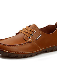 Men's Shoes Wedding/Office & Career/Party & Evening Leather Oxfords Brown