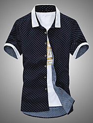 Men's Short SleeveCotton Casual Print
