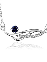 Creative Jewelry 925-Sterling -Silver Geometry 8 Shape with Zircon Pendant Necklace for Women