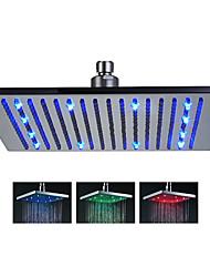 Chuveiro Tipo Chuva Contemporâneo LED/Efeito Chuva Aço Inoxidável Escovado