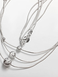 Hot Selling Products Party/Work/Casual Silver Plated Statement Simple Design
