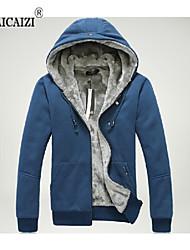 Men's Casual/Sport/Plus Sizes Pure Long Sleeve Activewear Sets (Cotton Blends/Elastic/Lycra/Nylon/Spandex)