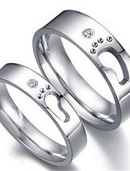 Couple de Bagues ( Acier au titane ) Mariage/Quotidien/Casual/Sports
