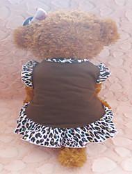 Perros Vestidos Marrón / Gris Verano Animal Leopardo