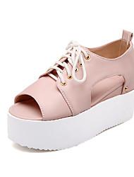 Women's Shoes Platform Peep Toe/Platform Oxfords Dress Blue/Pink/White/Silver/Gold