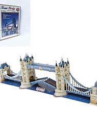 diy quebra-cabeça 3d pontes gêmeas em forma