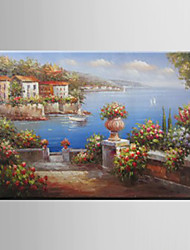 Oil Painting Garden Scenery Hand Painted Canvas with Stretched Framed