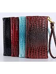 Universal Crocodile Wallet Case Protective Sleeve for Samsung iPhone Huawei and Other 5.5 Inch Mobile Phone