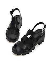 Women's Shoes Chunky Heel Platform/Gladiator Sandals Dress Black/White