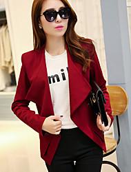 Women's Blue/Red/White/Black Coat , Work ¾ Sleeve Polyester