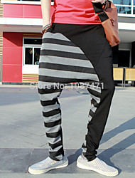 2014 neue Marke Männer Patchwork tiefem Schritt Harem Sport Bandana Hosen Mens hip hop baggy Trainingshose Baumwolle elastische