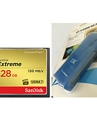 SanDisk CompactFlash 128G CFXSB 120M/S High Speed Camera Memory Card And   CF Card Reader