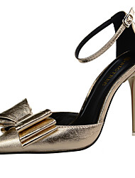Women's Shoes Leatherette Stiletto Heel Heels Pumps/Heels Wedding/Party & Evening/Casual Silver/Gold