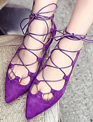 Women's Shoes Flat Heel Pointed Toe Sandals Casual Black/Purple