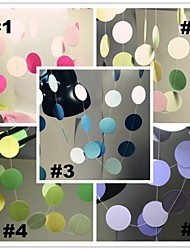 Circle Dots Paper Garland (2m Long) for Wedding Party Birthday Decoration Banner