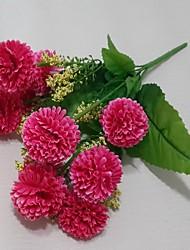 10 Heads Wild Lilac Ball Silk Cloth Flowers