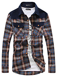 2014 осень новый приход мужчины одежды популярных молодых удобными длинными рукавами рубашки горячей продажи dleisure тонкий