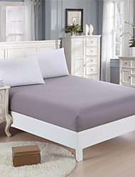 Grey 100% Cotton Mattress Cover Fiteed Sheet
