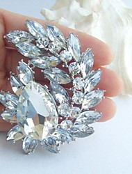 Bridal Accessories Wedding Deco Silver-tone Clear Rhinestone Crystal Bridal Brooch Bridal Bouquet Wedding Brooch