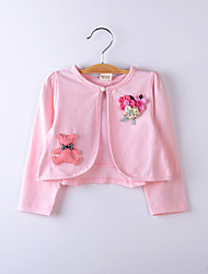 Kids Wraps Lace/Polyester Cute Bear Flower Party/Casual Boleros White/Pink Bolero Shrug