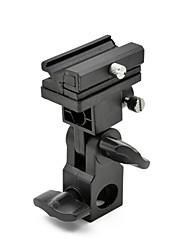 mengs® type b support de basculement pour les flashes avec griffe universelle