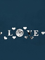 Romantic LOVE 3D Mirror Wall Clock