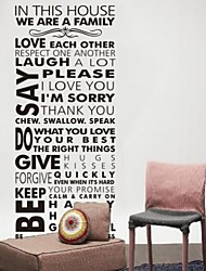 We Are Family Living Room Home Decorations Quote Wall Decals Zooyoo8085  Diy Bedroom Removable Vinyl Wall Stickers