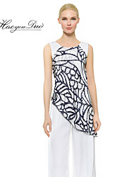 Haoyouduo Women's Print Casual Bodycon Evening Party Asymmetrical Dress