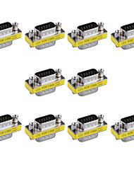 15 pinos macho para adaptadores vga trocador mini-VGA gênero masculino (10 peças)