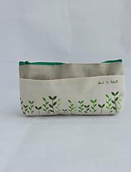 verte mignonne tire coton et lin glissière porte-monnaie sac clé de stockage de cas porte-monnaie portefeuille