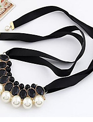 New Arrival Hot Selling Ribbon Pearl Necklace