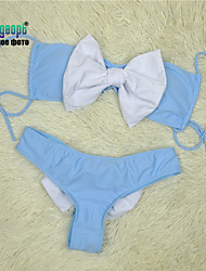 Gagaopt Patchwork Color with Bow Girl's Bikinis 2015