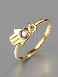 partido de ouro anel banhado a declaração grandes anéis de promoção da moda para as mulheres 2015