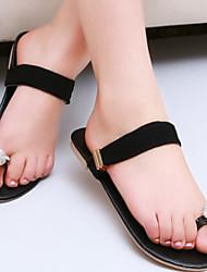 Women's Glitter Flat Heel Toe Ring Slippers