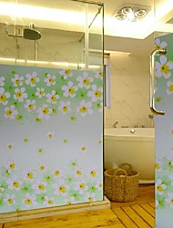 Bathroom Window Film & Stickers,  Flower Glass Door Sticker (100*90cm)