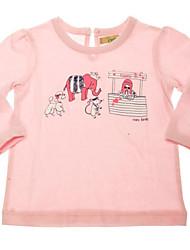 Girl's 100% cotton  pink  Sports shirt