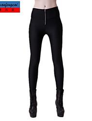 cmfc®women горячие спортивные леггинсы эластичные-футляр узкие брюки с молнией девочек случайных брюки