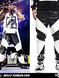 30 $ = Mode 2 Chainz männlichen gv Männer 2014 pu Lederhosen lange Hosen schwarz weiß Farbstoffgleichlederhose Qualität!