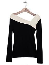 Långärmad T-shirt Kvinnors Bomull