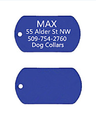 Personalized Gift Anodized Aluminum Dog ID Name Tag for Pet(Assorted Colors)