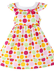Girls Dot Party  Birthday Kids Clothing Princess Dresses (100% Cotton)